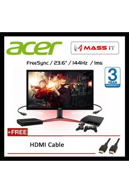 "ACER KG241QA Freesync 144hz 0.6ms 24"" 23.6"" FHD Gaming Monitor (LIMITED KILLER MODEL)"