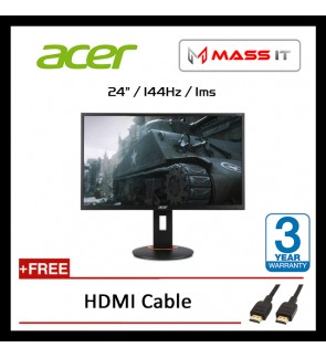 "ACER XF240QP 24"" TN FreeSync G-Sync Compatible 144Hz 1ms FHD Gaming Monitor"