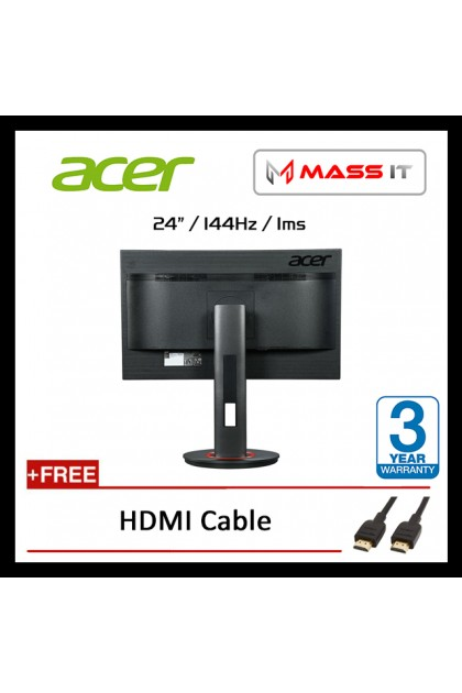 """ACER XF240QP 24"""" TN FreeSync G-Sync Compatible 144Hz 1ms FHD Gaming Monitor"""