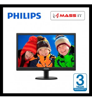 "PHILIPS 193V5LHSB2 18.5"" Monitor with HDMI Port Ready"