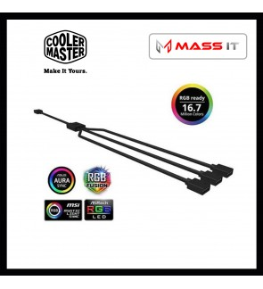 COOLER MASTER RGB Splitter Cable 1 to 3 RGB Splitter Cable for RGB LED Fan / LED Strip (R4-ACCY-RGBS-R2)
