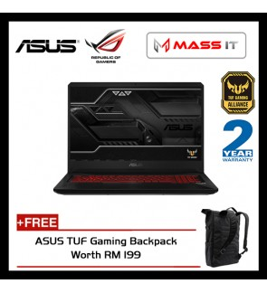 "ASUS FX505A-BQ038T TUF Gaming (Ryzen 5-3550H/RX560 4GD5/4GB D4 2666MHz/1TB 5400RPM/15.6"" IPS FHD/WIN10/2 Years Warranty)"
