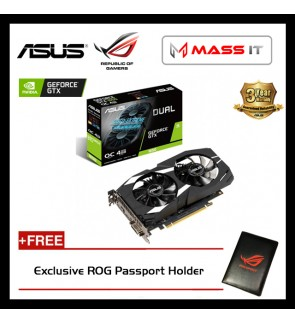 ASUS DUAL GeForce GTX 1650 OC Edition 4GB GDDR5 Graphics Card (DUAL-GTX1650-O4G)