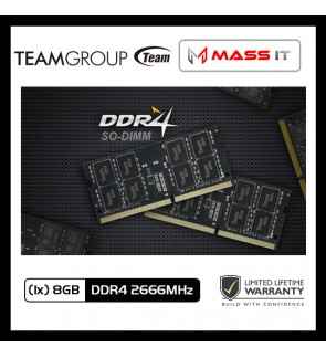 TEAM GROUP ELITE SO-DIMM 8GB DDR4 2666MHz Laptop RAM Notebook RAM (TED48G2666C19-S01)