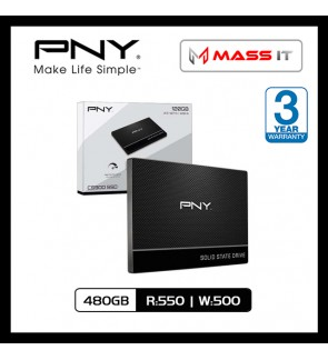 PNY CS900 480GB SATA3 SSD (R:550/W:500)