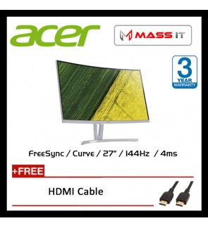 """ACER ED273A 27"""" Curve FreeSync 144hz FHD Gaming Monitor G-Sync Compatible Certified"""