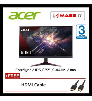 "ACER Nitro VG270P 27"" IPS FreeSync 144hz 1ms FHD Gaming Monitor"