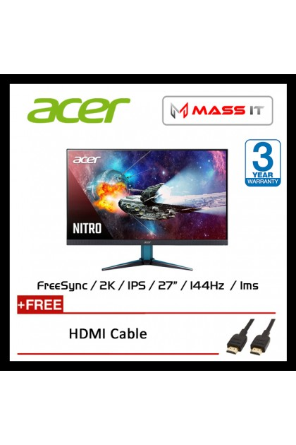 "ACER Nitro VG271UP 27"" 2K IPS FreeSync 144hz 1ms FHD Gaming Monitor"