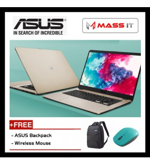 "ASUS Vivobook X505Z-ABR488T Icile Gold (R3-2200U/AMD Radeon Vega 3/4GB D4/1TB HDD/15.6"" HD/WIN10/1 Year Warranty)"