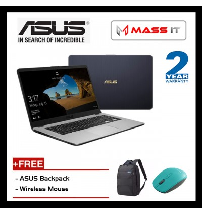 "ASUS Vivobook X505Z-AEJ522T Star Grey (R5-2500U/AMD Radeon Vega 8/4GB D4/1TB HDD/15.6"" FHD/WIN10/2 Years Warranty)"
