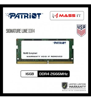 PATRIOT Signature Line SO-DIMM 16GB DDR4 2666MHz Laptop RAM Notebook RAM