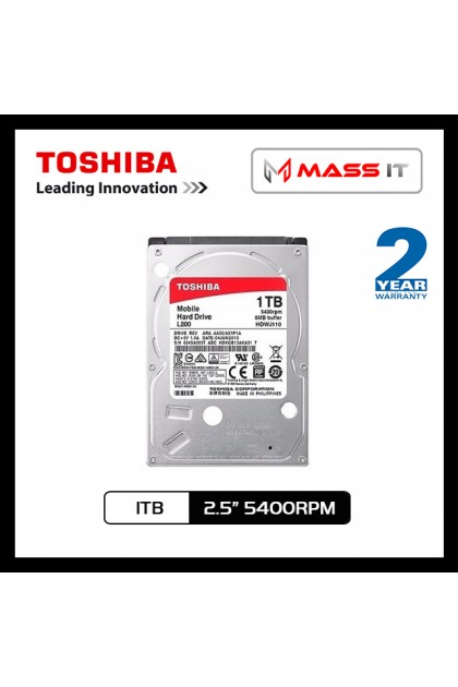 "TOSHIBA 1TB 2.5"" Notebook Internal Hard Disk SATA 5400RPM"