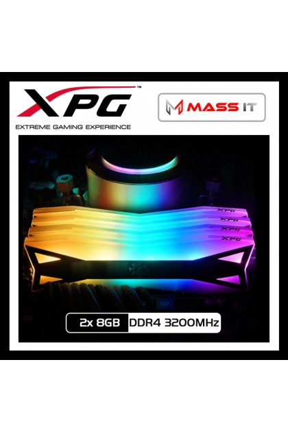 XPG SPECTRIX D60G (8GB x2) DDR4 3200MHz CL16-18-18 PC RAM Gaming RAM (AX4U320038G16-DT60)