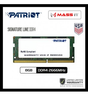 PATRIOT Signature Line SO-DIMM 8GB DDR4 2666MHz Laptop RAM Notebook RAM