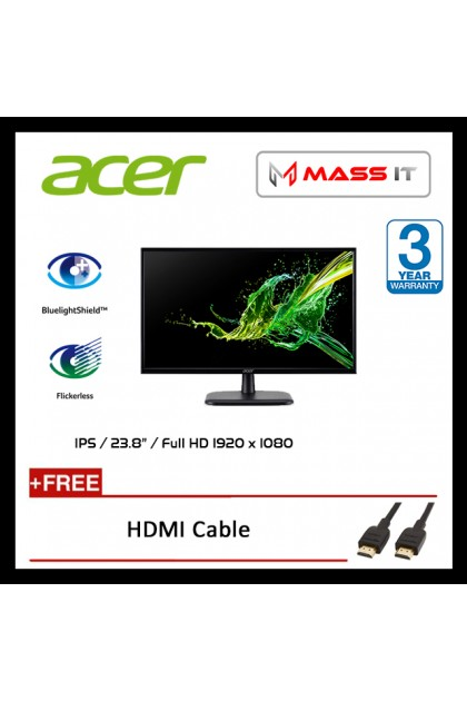 "ACER EK220QA 21.5"" Full HD Monitor (VGA + HDMI)"