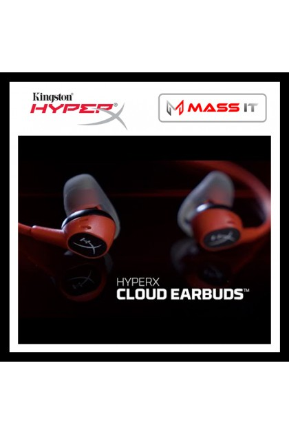 KINGSTON HyperX Cloud Earbuds Red Gaming Earbuds (HX-HSCEB-RD)