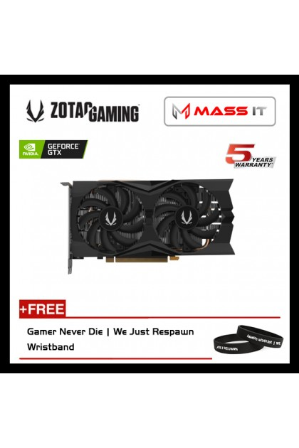 ZOTAC GeForce GTX 1660 Twin Fan E 6GB GDDR5 Graphic Card (ZT-T16600K-10M)