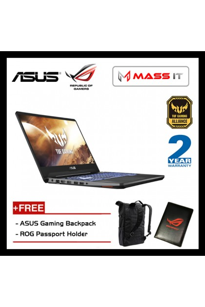 "ASUS FX505D-TAL409T TUF Gaming (Ryzen 7-3750H/GTX1650 4GD5/4GB D4 2666MHz/512GB NVMe M.2 SSD/15.6"" 120Hz IPS FHD/WIN10/2 Years Warranty)"