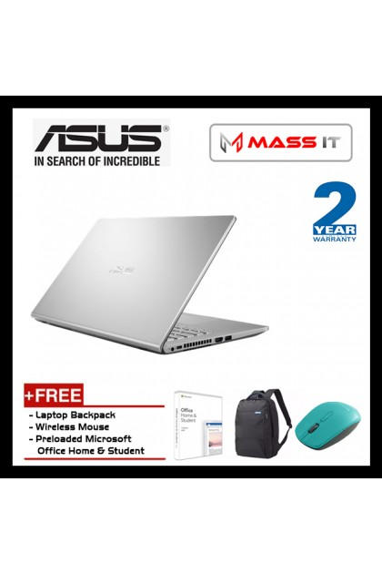 """ASUS A409J-ABV168T Vivobook Transparent Silver Free Microsoft Office Home & Student (i3-1005G1/Intel UHD/4GB D4/256GB NVMe M.2 SSD/14"""" HD/WIN10/2 Years Warranty)"""