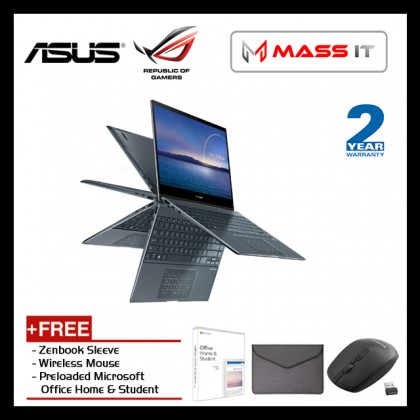 """ASUS UX363E-AHP286TS Zenbook Flip Free MS Office Home & Student (i7-1165G7/Intel Iris/8GB/512GB NVMe M.2 SSD/13.3"""" Touch FHD/W10/2Y)"""