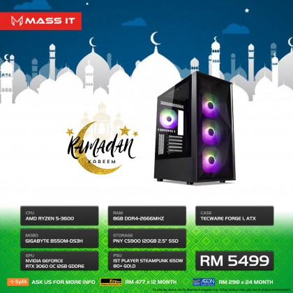 RM5499 Gaming PC / Workstation (RAMADAN Promo)
