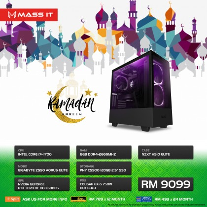 RM9099 Gaming PC / Workstation (RAMADAN Promo)